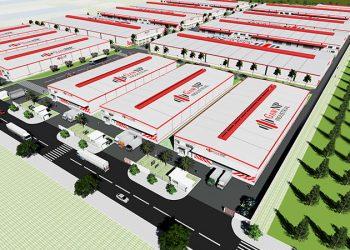 3D Rendering of GNP Yen Binh – Industrial Center located in Thai Nguyen Province, North Vietnam